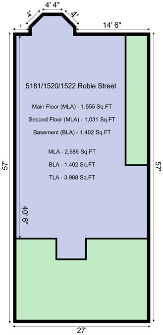 28 1518-22 Robie St Exterior Dimensions